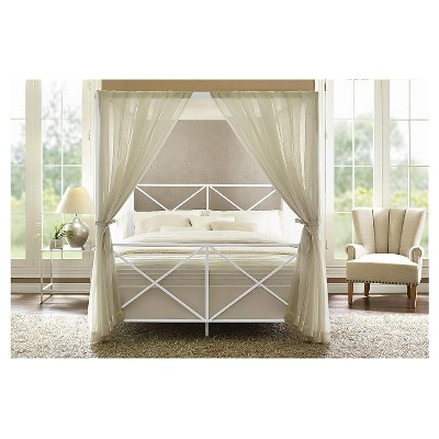 Queen Riley Canopy Bed White - Room u0026 Joy  sc 1 st  Target & Queen Riley Canopy Bed White - Room u0026 Joy : Target