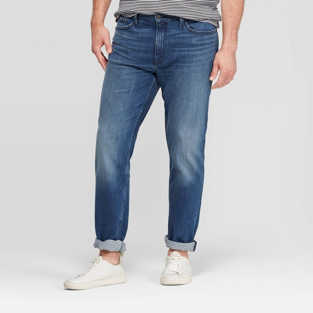 Men 39 S Tall Slim Fit Jeans Goodfellow 38 Co 8482 Medium Denim Wash 34x36