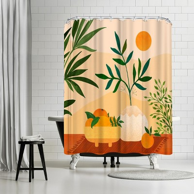"Americanflat Boho Summer by Modern Tropical 71"" x 74"" Shower Curtain"