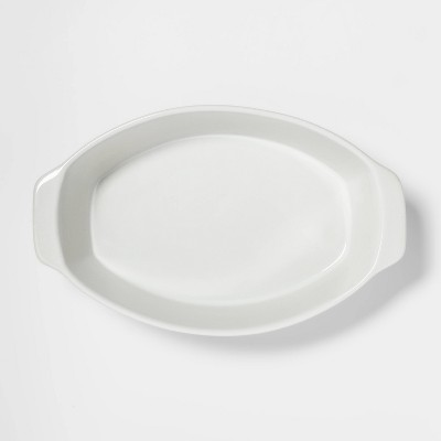 2.5qt Oval Baker White - Threshold™