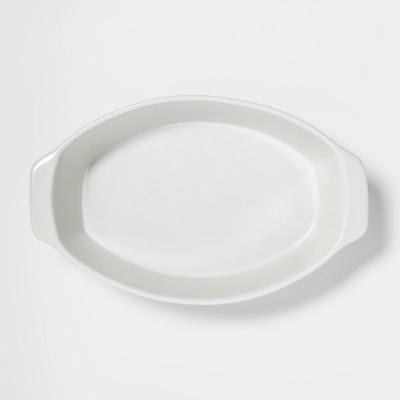 2.5qt Oval Baker White - Threshold™