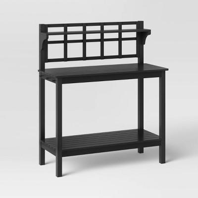 Blackened Wood Patio Potting Bench - Smith & Hawken™
