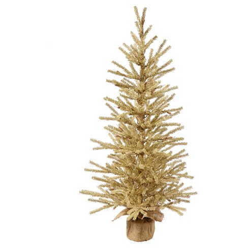 3ft Unlit Champagne Artificial Christmas Tree in Burlap Base - image 1 of 1