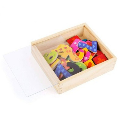 Small Foot Wooden Toys Colorful Wooden Magnetic Numbers In Travel Box