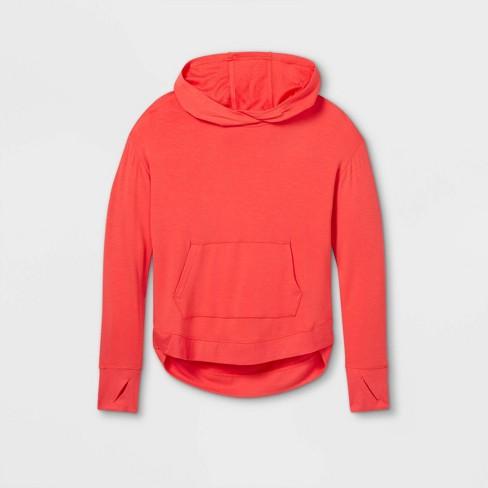 Girls' Soft Fleece Hooded Sweatshirt - All in Motion™ - image 1 of 2