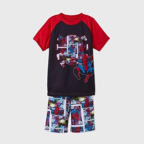 Boys' Marvel Spider-Man 2pc Pajama Set - Red - image 1 of 2