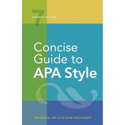 Concise Guide to APA Style - 7 Edition by  American Psychological Association (Spiral_bound)