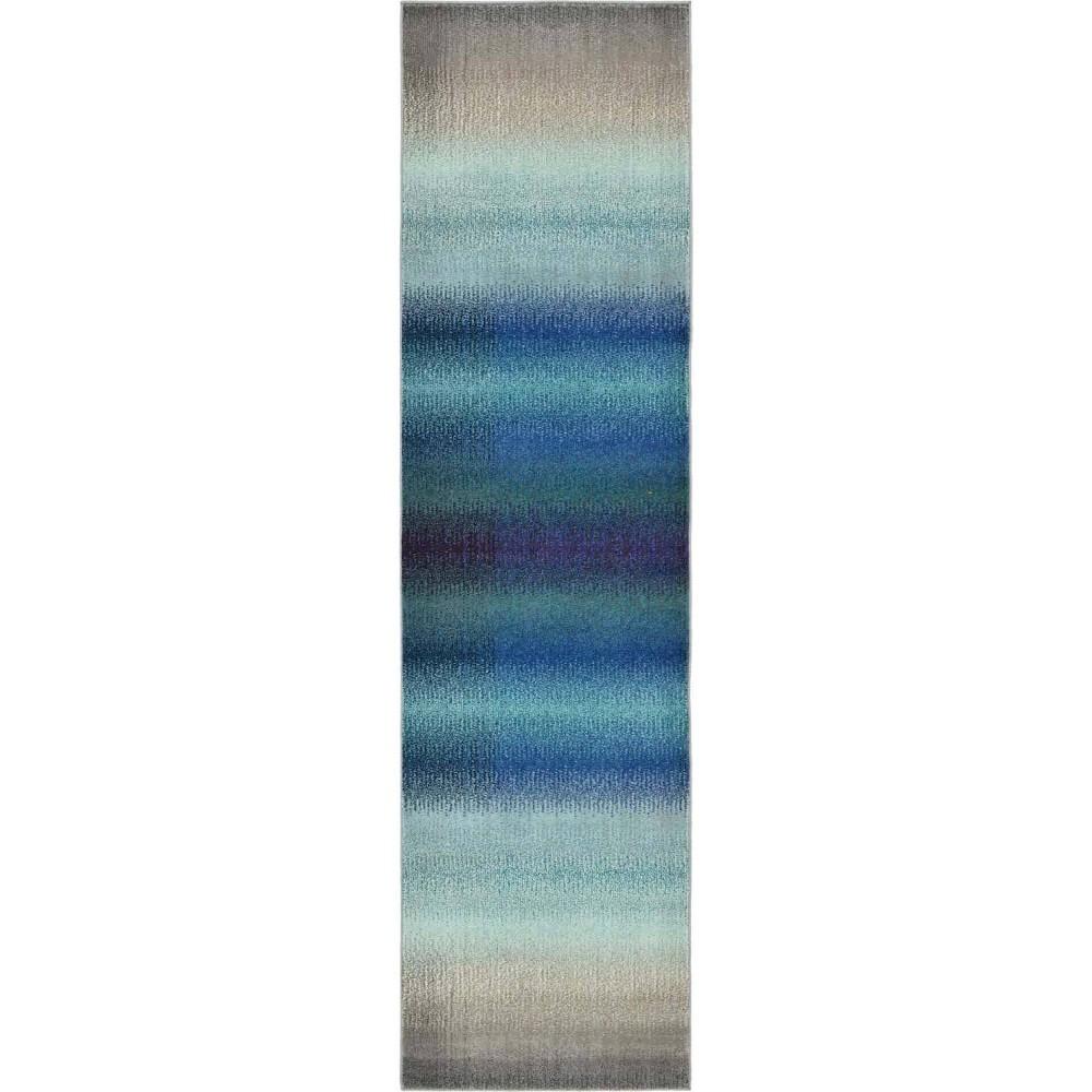 2 39 7 34 X10 39 Runner Azura Estrella Rug Blue Beige Unique Loom