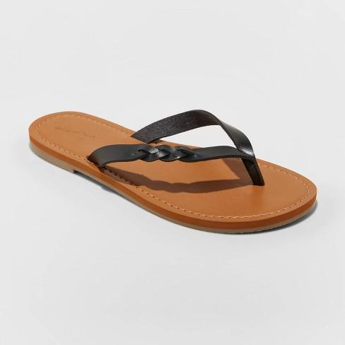 Women's Bobbie Braided Thong Flip Flop Sandals - Universal Thread™ - image 1 of 3