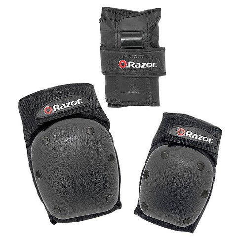 Razor Youth Black Pad Set with Guards - image 1 of 5