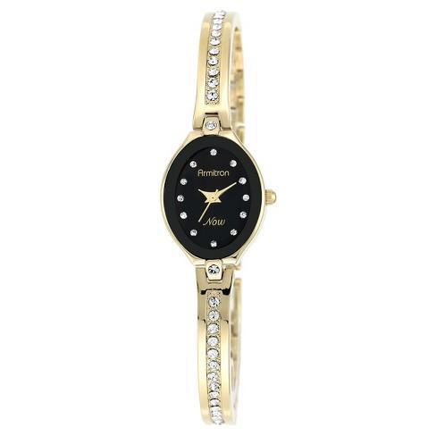 Armitron Women's Swarovski Crystal Accented Bangle Watch - Gold - image 1 of 1