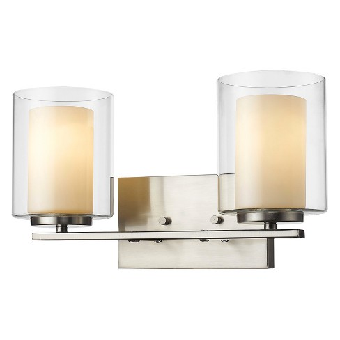 Vanity Wall Lights with Clear Outside; Matte Opal Inside Glass (Set of 2) - Z-Lite - image 1 of 1