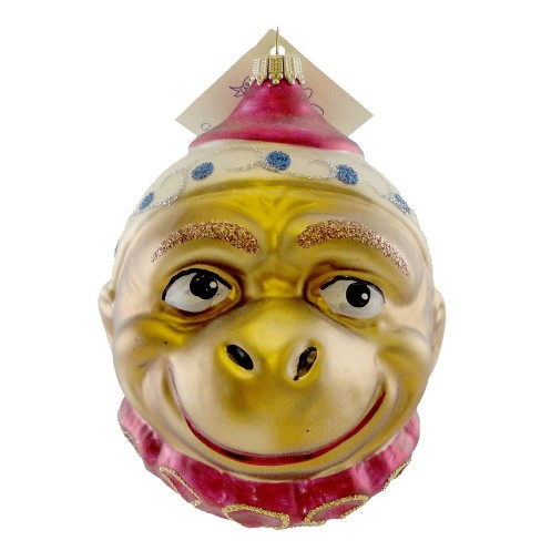 Larry Fraga Monkey Face Christmas Ornament Circus  -  Tree Ornaments - image 1 of 2