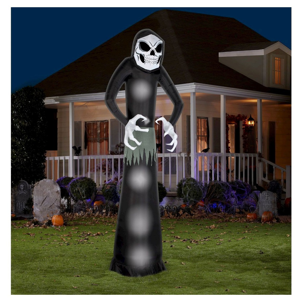 Image of 4pc Halloween Airblown Giant Wicked Reaper, Black