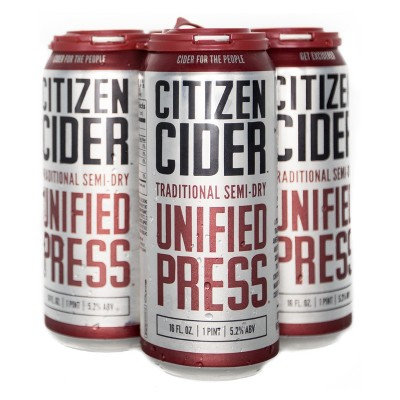 Citizen Unified Press Hard Cider - 4pk/16 fl oz Cans