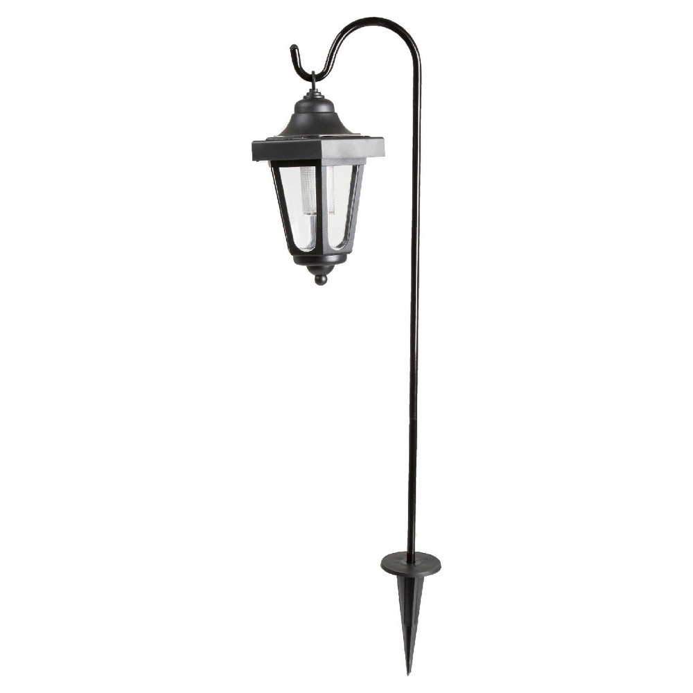 Pure Garden Solar Led Hanging Coach Lanterns - Black - Set of 2