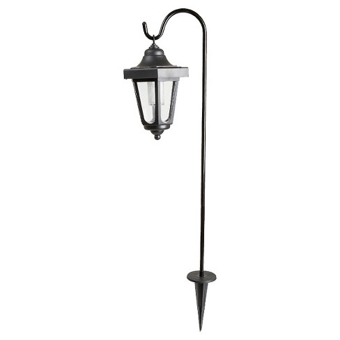 "Pure Garden Solar 10"" LED Hanging Coach Outdoor Lantern - Black - Set of 2 - image 1 of 4"