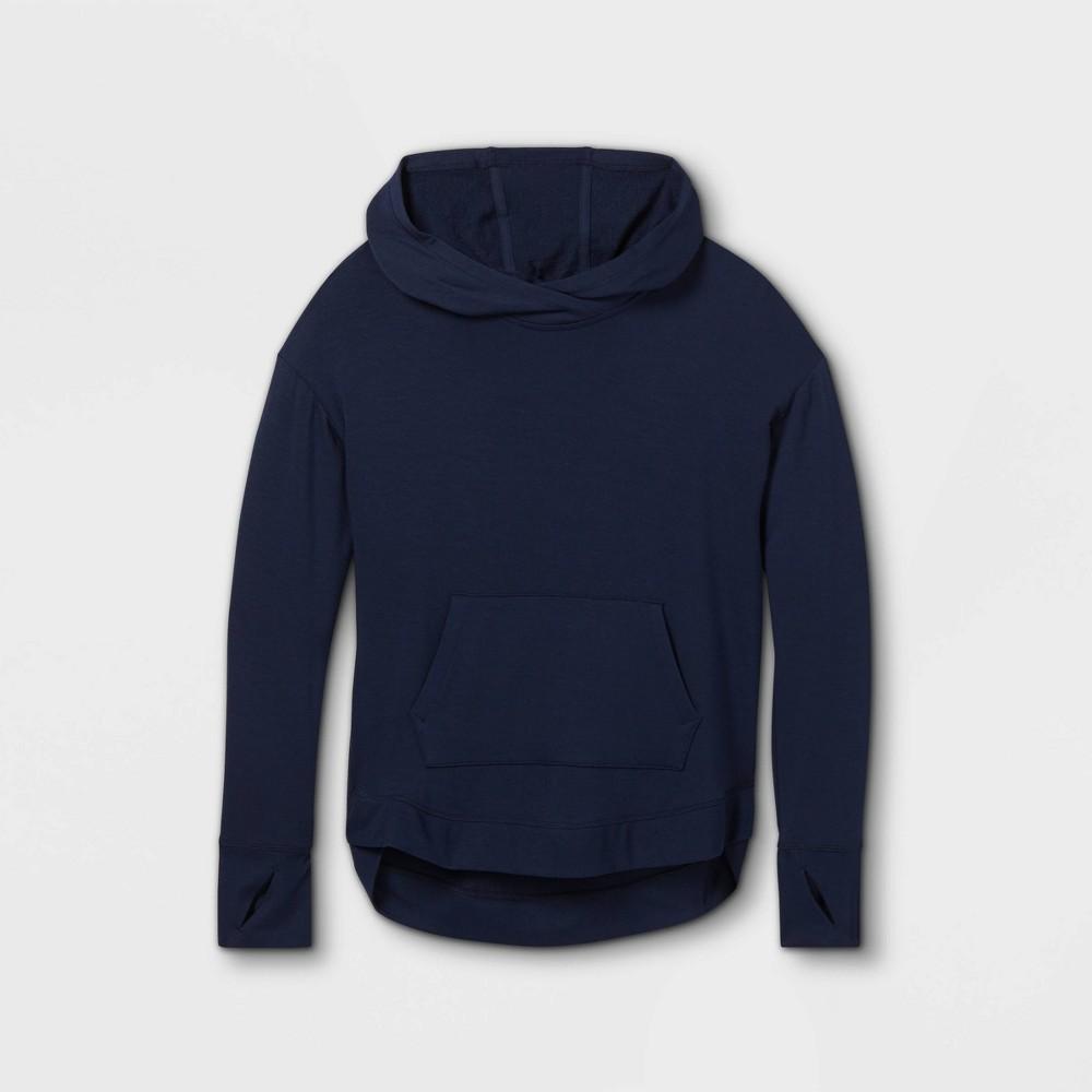 Girls 39 Soft Fleece Hooded Sweatshirt All In Motion 8482 Navy Xs