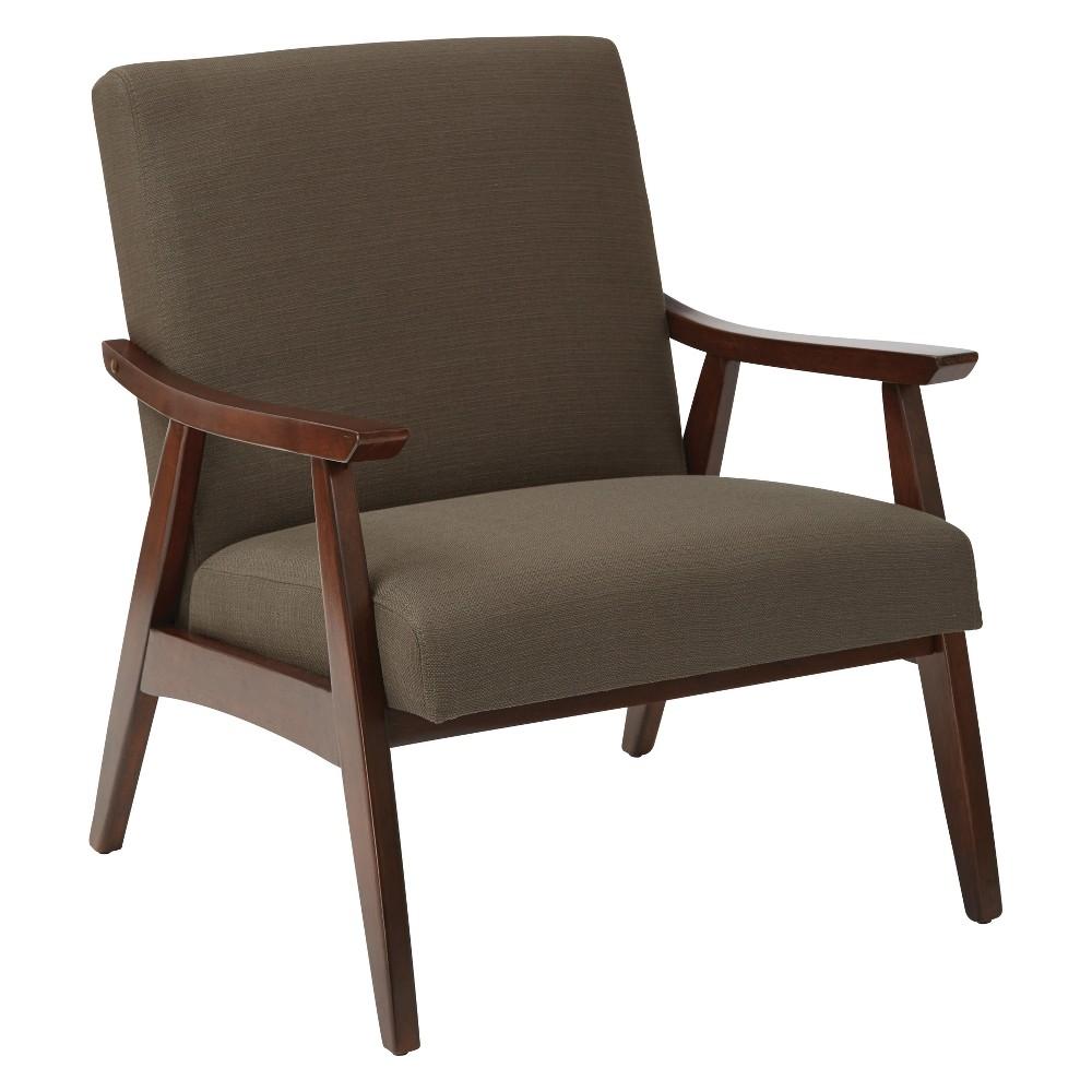 Davis Upholstered Armchair Otter Brown - Ave Six
