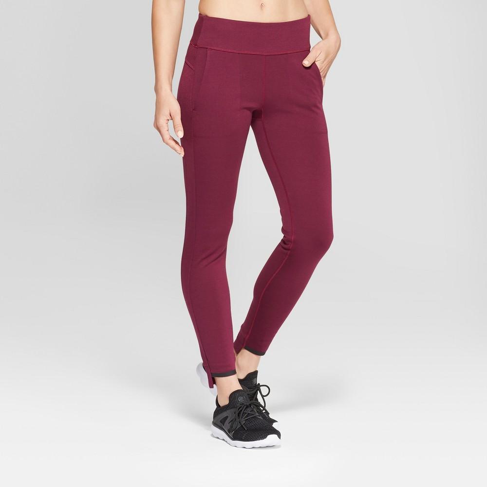 Women's Ponte Mid-Rise Leggings 28.5 - C9 Champion Dark Purple S