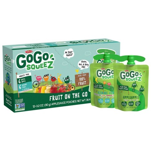 GoGo squeeZ Applesauce, Variety Apple Apple/GIMME 5 - 3.2oz/12ct - image 1 of 4