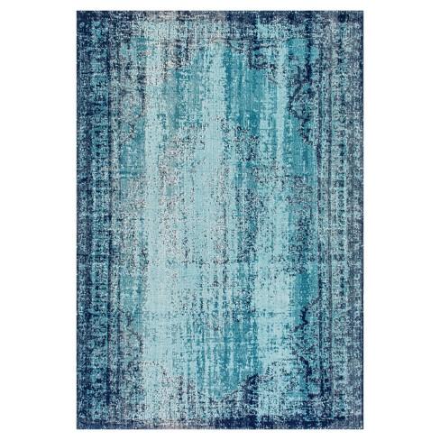 "Blue Solid Loomed Area Rug - (5'x7'5"") - nuLOOM - image 1 of 4"