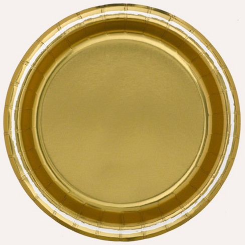 "8.5"" 20ct Disposable Dinner Plates Gold - Spritz™ - image 1 of 1"