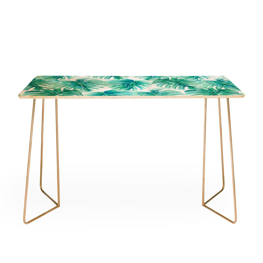 Jacqueline Maldonado Paradise Palms Desk with Gold Legs - Deny Designs