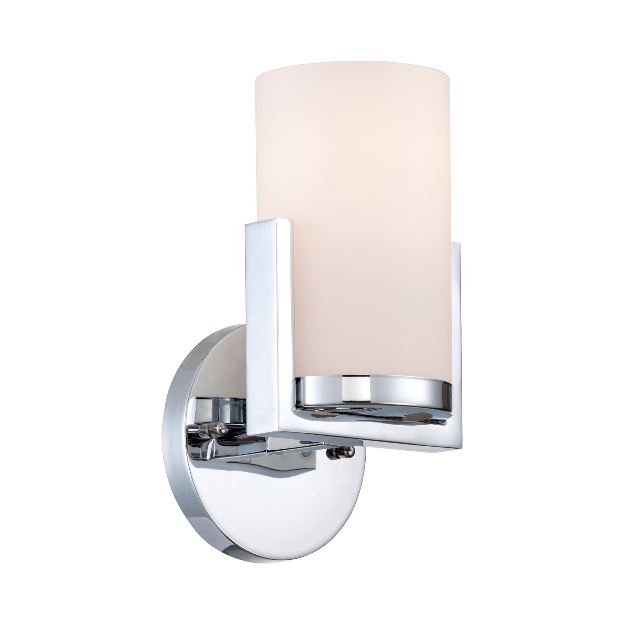 Caesarea Wall Lamp - Chrome - Lite Source, Grey/Frosted