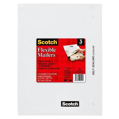 "Scotch 3ct Self-Sealing Flexible Mailers 14.25"" x 18.75"""