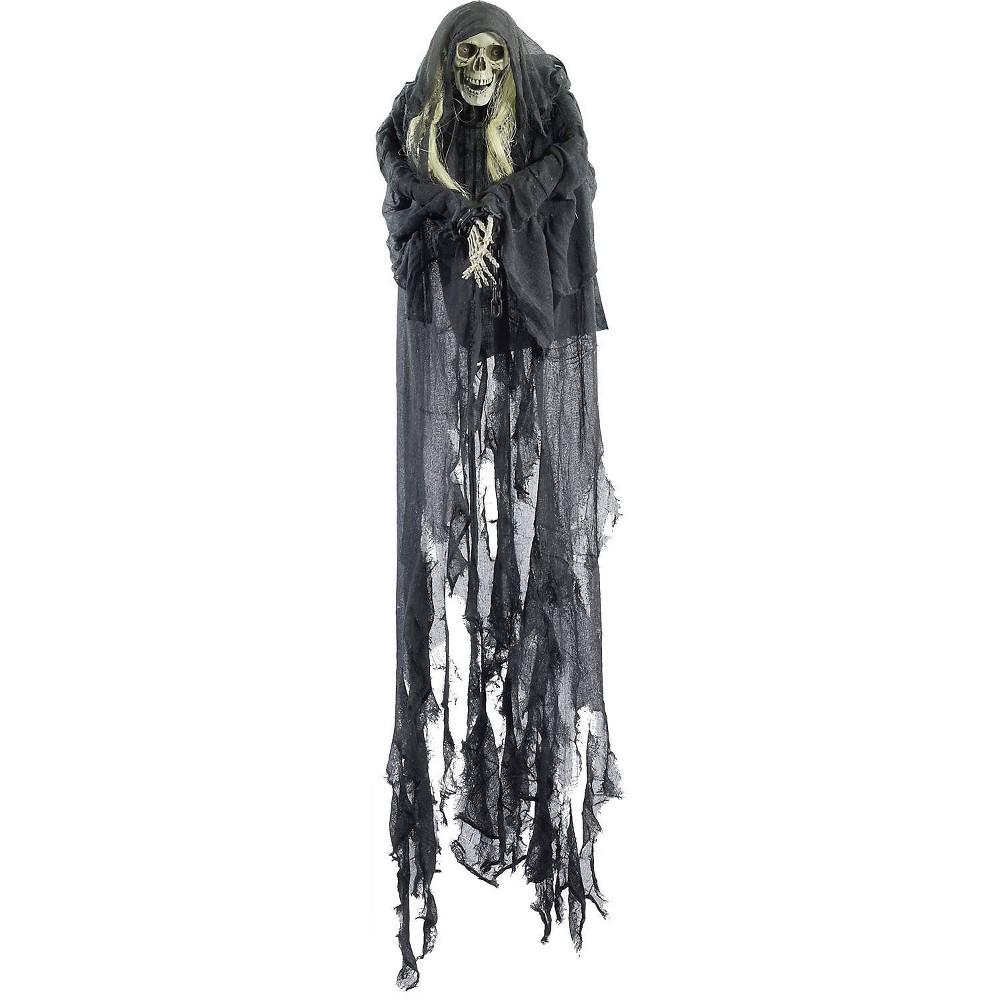 Image of 6' Halloween Hanging Skull Bound Decor