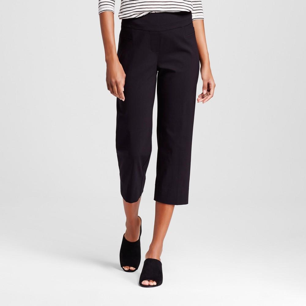 Women's Pull-on Two-Pocket Cropped Pants - Zac & Rachel - Black 10