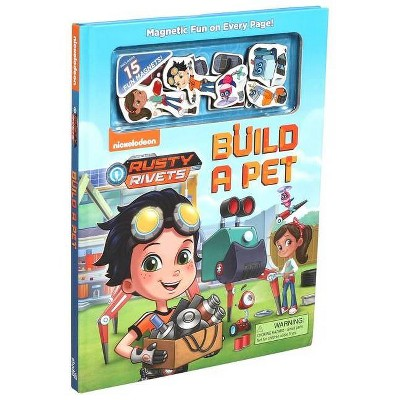 Nickelodeon Rusty Rivets: Build a Pet - (Magnetic Hardcover) (Hardcover)