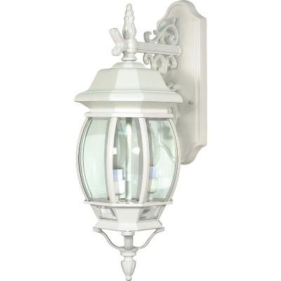 3 Light Outdoor Wall Lantern Sconce White - Aurora Lighting
