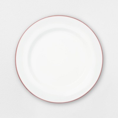 Enamel Dusty Rose Rim Dinner Plate - Hearth & Hand™ with Magnolia