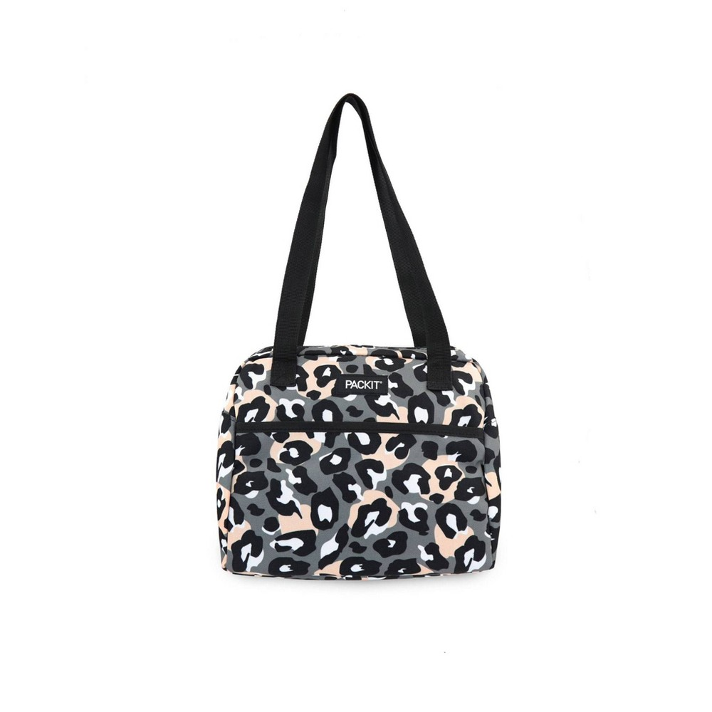 Image of Packit Freezable Hampton Lunch Sack - Wild Leopard Gray