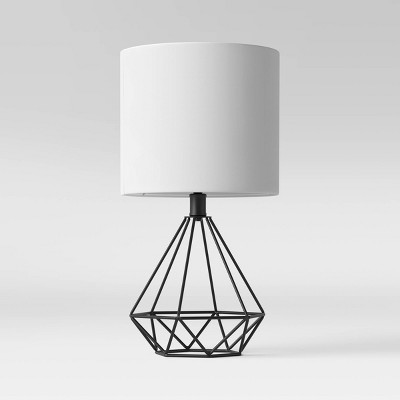 Wire Geo Table Lamp (Includes LED Light Bulb)Black - Project 62™