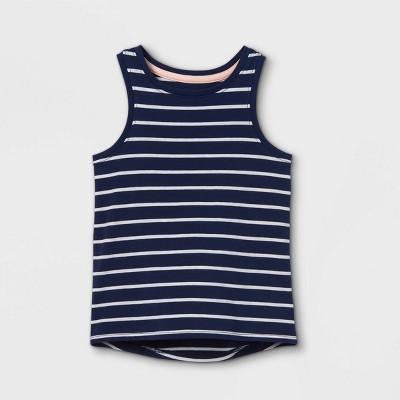 Toddler Girls' Striped Tank Top - Cat & Jack™ Navy