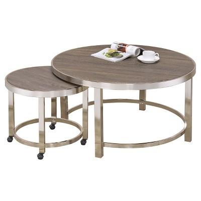 Merveilleux Nesting Coffee Tables Walnut   ACME : Target