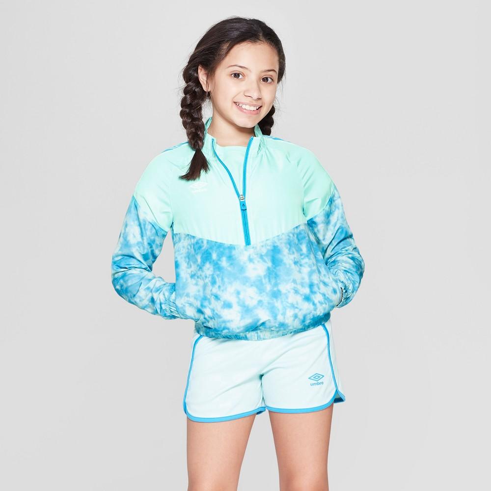Umbro Girls' Tie Dye Windbreaker - Light Blue XS