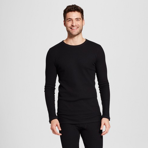 41b7c5b7bb2ef Men s Long Sleeve Micro Thermal Shirt - Goodfellow   Co™ Black S ...