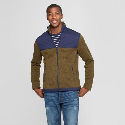 Mens Standard Fit Zip Up Fleece Jacket – Goodfellow & Co