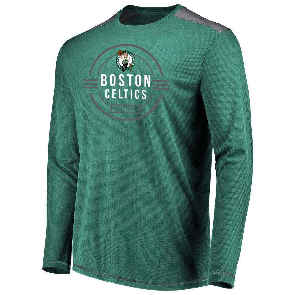 Boston Celtics Men's All Pride Long Sleeve Geo Fuse Shooting Top XL, Multicolored