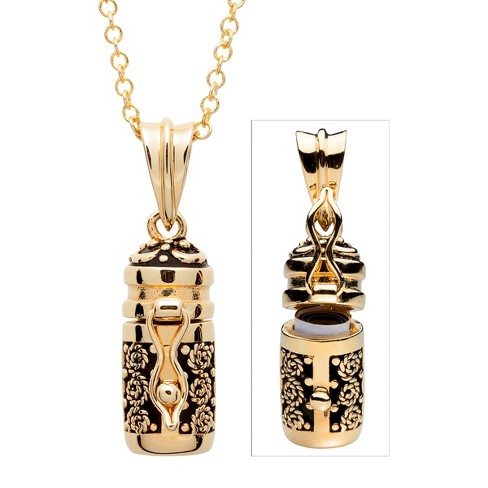 Women's Gold Plated Prayer Keeper Antiqued Capsule Pendant - Gold - image 1 of 1