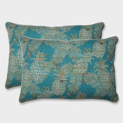 2pk Oversize Carate Batik Lagoon Rectangular Throw Pillows Blue - Pillow Perfect - image 1 of 1