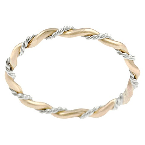 Tressa Collection Gold Plated and Sterling Silver Twist Ring - image 1 of 3