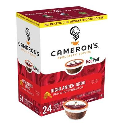 Cameron's Coffee Highlander Grog Light Roast Coffee Pods - 24ct