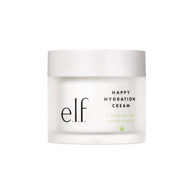 e.l.f. Happy Hydration Cream + hemp-derived Cannabis Sativa Seed Oil - 1.7oz