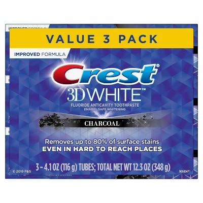Crest 3D White Charcoal Whitening Toothpaste - 4.1oz/3pk
