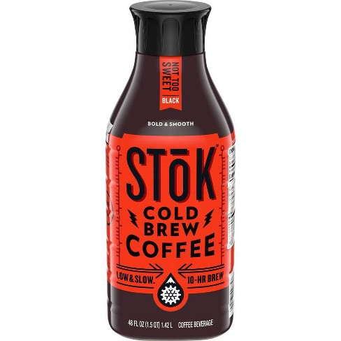 SToK Not Too Sweet Black Cold Brew Iced Coffee - 48 fl oz - image 1 of 4